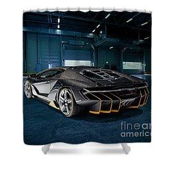 Lamborghini Centenario Lp 770-4 Shower Curtain by Roger Lighterness