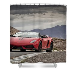 Lamborghini Gallardo Lp570-4 Spyder Performante Shower Curtain