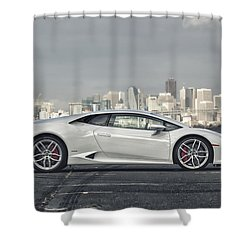 Shower Curtain featuring the photograph Lamborghini Huracan by ItzKirb Photography
