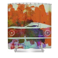 Lamborghini Miura Side 2 Shower Curtain by Naxart Studio