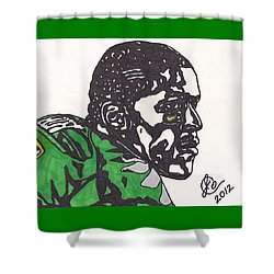 Shower Curtain featuring the drawing Lamicheal James 2 by Jeremiah Colley
