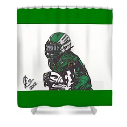 Shower Curtain featuring the drawing Lamicheal James 1 by Jeremiah Colley