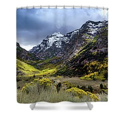 Lamoille Canyon In Fall Shower Curtain