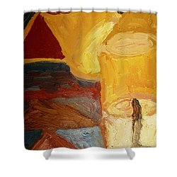 Lamps In Color Shower Curtain