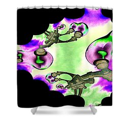 Lamps Shower Curtain by Tim Allen