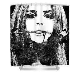 Lana Del Rey Bw Portrait Shower Curtain