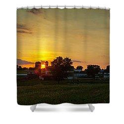 Lancaster Farm Sunset Panorama Shower Curtain