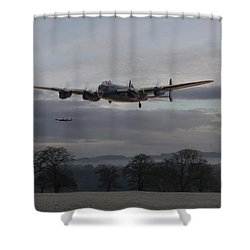 Lancaster - He Aint Heavy He's My Brother' Shower Curtain by Pat Speirs
