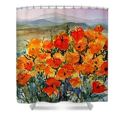 Lancaster Poppy Fields Shower Curtain