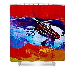 Lancia Stratos Watercolor 2 Shower Curtain by Naxart Studio