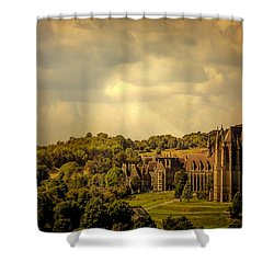 Shower Curtain featuring the photograph Lancing College by Chris Lord