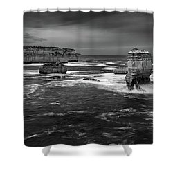 Land And Sea Shower Curtain by Mark Lucey