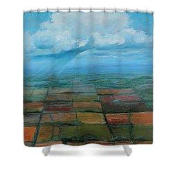 Land Art Shower Curtain