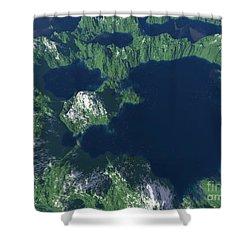 Land Of A Thousand Lakes Shower Curtain by Gaspar Avila