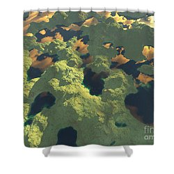 Land Of A Thousand Lakes II Shower Curtain by Gaspar Avila