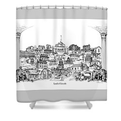 Land Of Lincoln Shower Curtain by Dennis Bivens