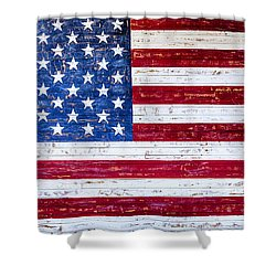 Land Of The Free Shower Curtain by David Millenheft
