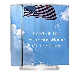 Land Of The Free Shower Curtain by Joann Copeland-Paul