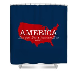 Land Of The Free Shower Curtain