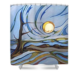 Shower Curtain featuring the painting Land Of The Midnight Sun by Pat Purdy