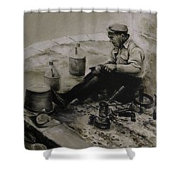 Landier.  Tinsmith. Shower Curtain