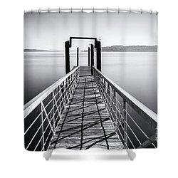 Landing Dock Shower Curtain