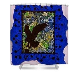 Landing Eagle Silhouette Shower Curtain