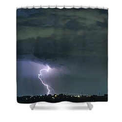 Shower Curtain featuring the photograph Landing In A Storm by James BO Insogna