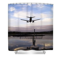 Landing In George Best Shower Curtain