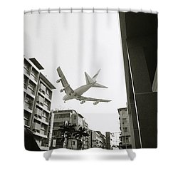 Landing In Hong Kong Shower Curtain