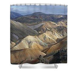 Landmannalaugar Rhyolite Mountains Iceland Shower Curtain