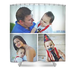 Landon Collage  Shower Curtain by Robert Smith