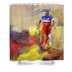 Landon Donovan 545 1 Shower Curtain by Mawra Tahreem