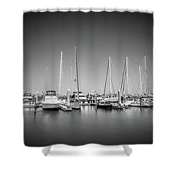 Lands End Marina  Shower Curtain