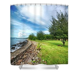 Shower Curtain featuring the photograph Landscape 2 by Charuhas Images