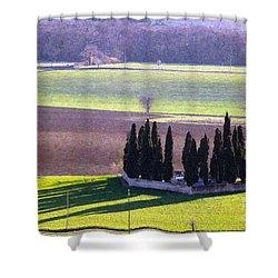 Landscape 3 Shower Curtain by Jean Bernard Roussilhe