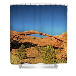 Landscape Arch Sunrise Shower Curtain