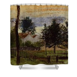 Landscape At Louveciennes Shower Curtain