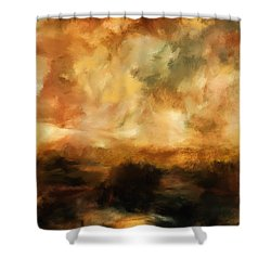 Landscape At Sunset Shower Curtain