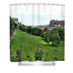 Landscape Edinburgh  Shower Curtain