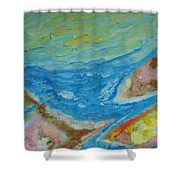 Landscape. Fantasy 12. Top View. Shower Curtain