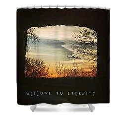 #landscape #gateway #historicalplace Shower Curtain by Mandy Tabatt