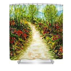 Shower Curtain featuring the painting Landscape by Harsh Malik