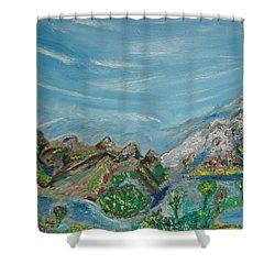 Landscape. Imagination. Shower Curtain