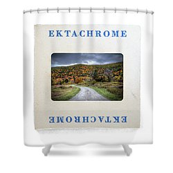 Landscape In Ektachrome Shower Curtain