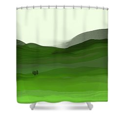Landscape In Green Shower Curtain