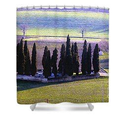 Shower Curtain featuring the photograph Landscape by Jean Bernard Roussilhe