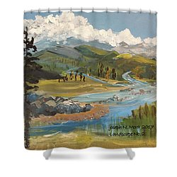 Landscape No._2 Shower Curtain