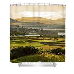 Landscape Of St Andrews Home Of Golf Shower Curtain