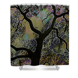 Landscape Photography Stormy Tree -  Shower Curtain